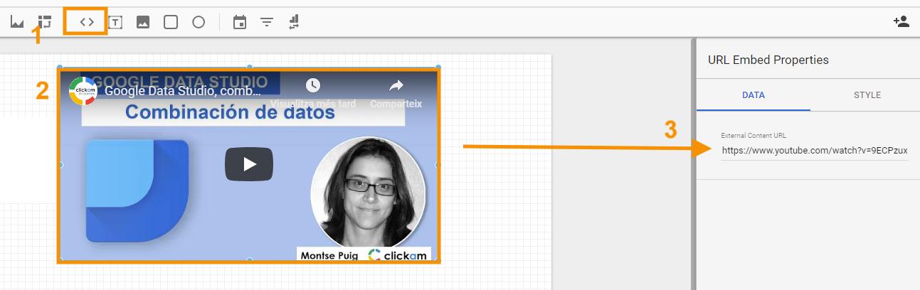 URL embed Data Studio